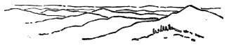 Контурный рисунок той же местности с утолщенными линиями
