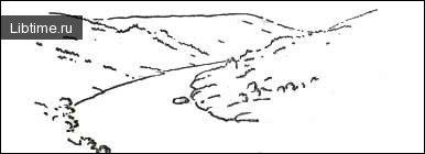 Контурный рисунок с утолщенными линиями