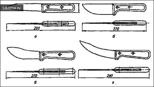 Ножі для знімання шкур з туш тварин
