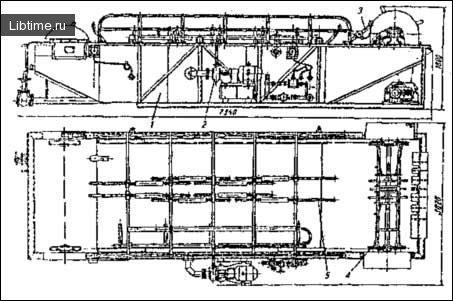 Схема конвеєрного шпарильного чана К7–ФШ2–К