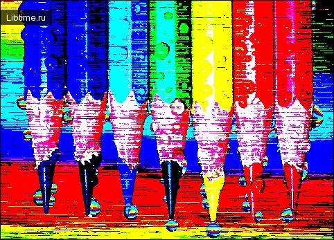 Краски цветных карандашей