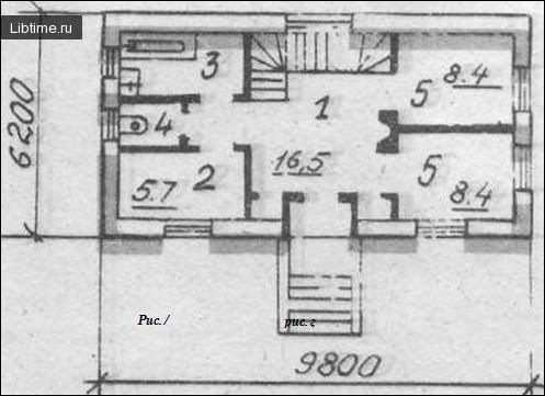 План будинку (1 поверху)