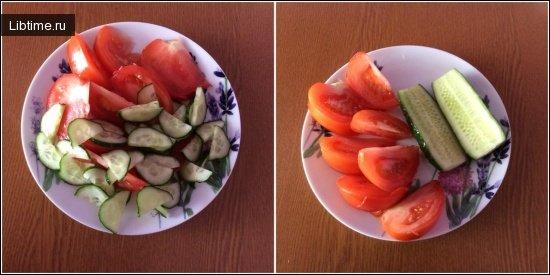 Салат из огурцов и помидор консервированный