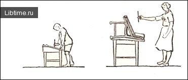 Положение художника при рисовании