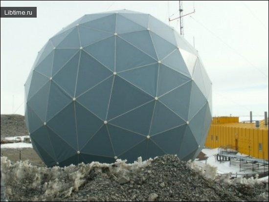 Метеорологическая станция ведет наблюдения за погодой
