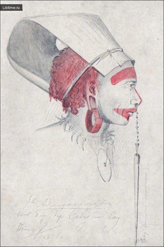 Маланезиец в головном уборе