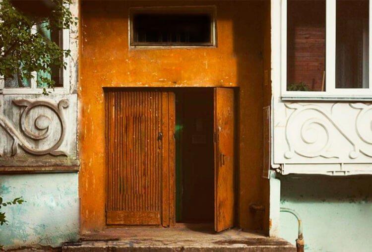 Рисование элемента дома - открытые двери