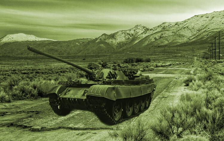 Управление танком при помощи тормозов