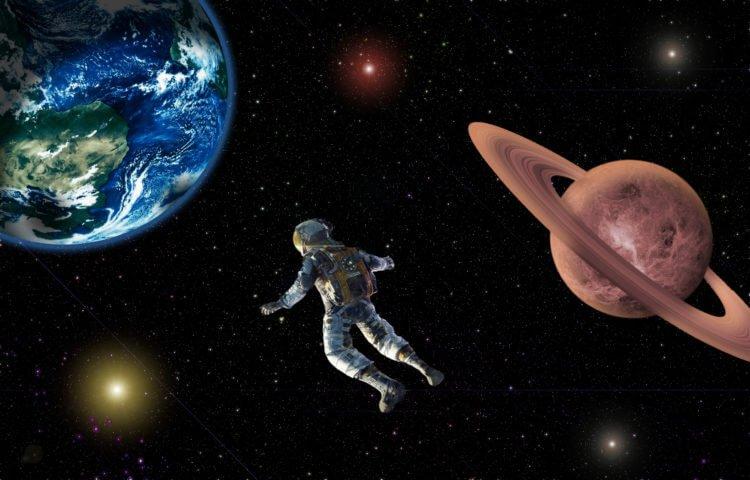 Человек в бескрайних просторах Вселенной