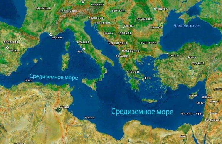 Средиземное море - одно из крупнейших морей нашей планеты