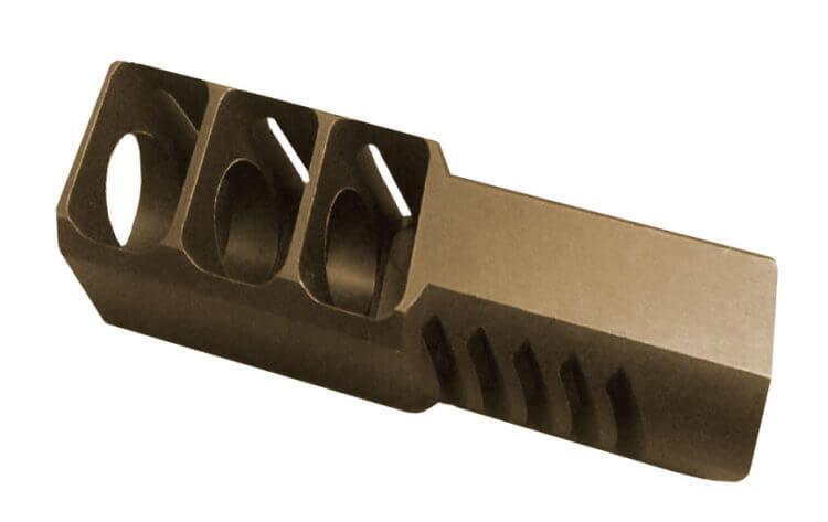 Дульный тормоз - уменьшает отдачу огнестрельного оружия