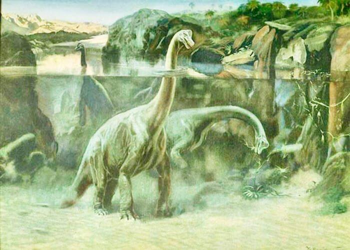Древний брахиозавр