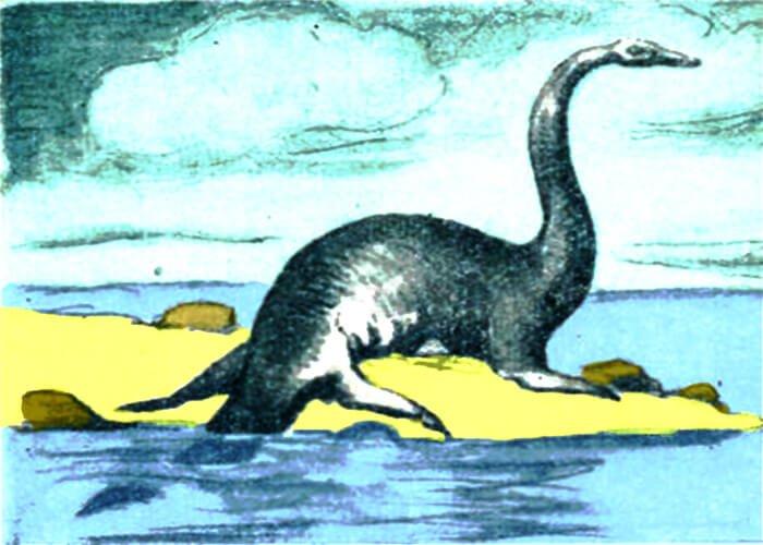 Древний плезиозавр