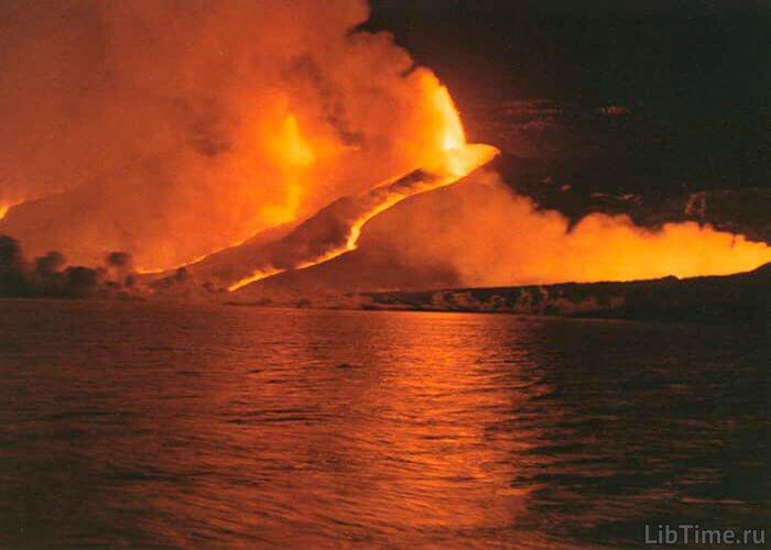 Пожар после землетрясения