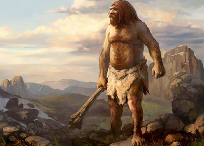 Древний неандерталец